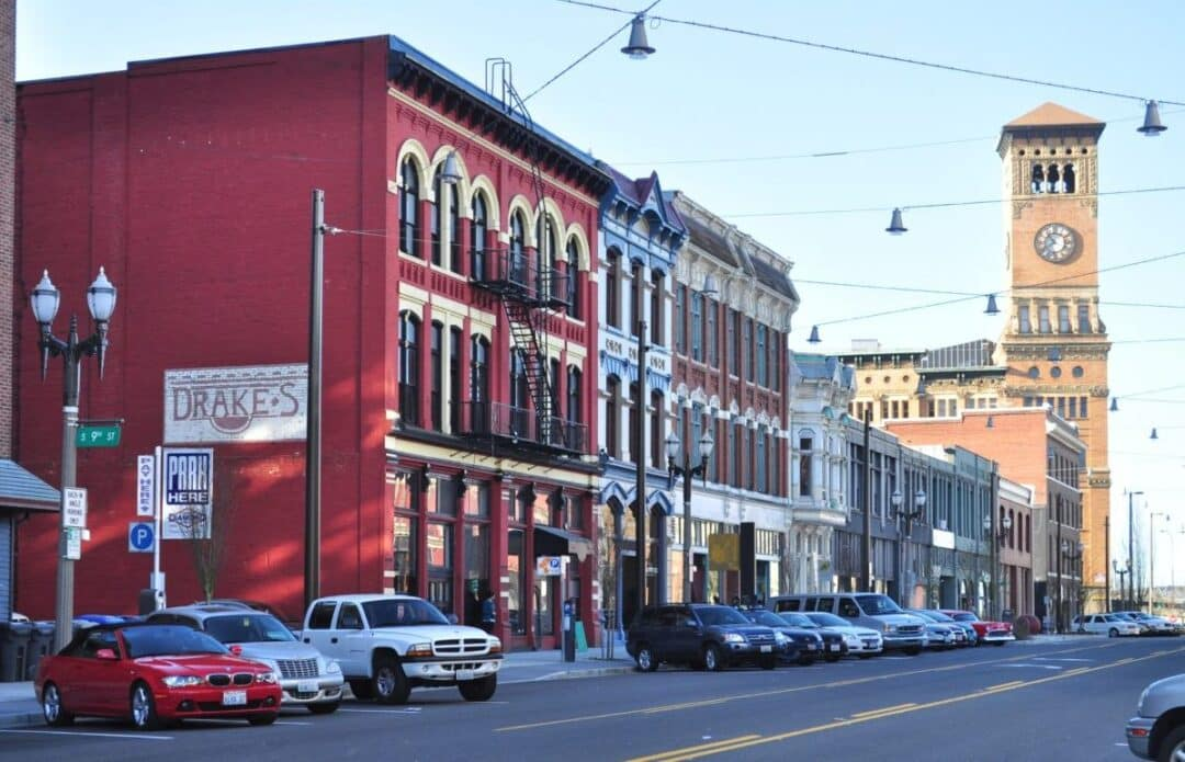 Tacoma Washington Pacific Ave and Old City Hall